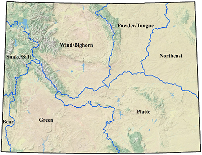 Wyoming River Basins Map