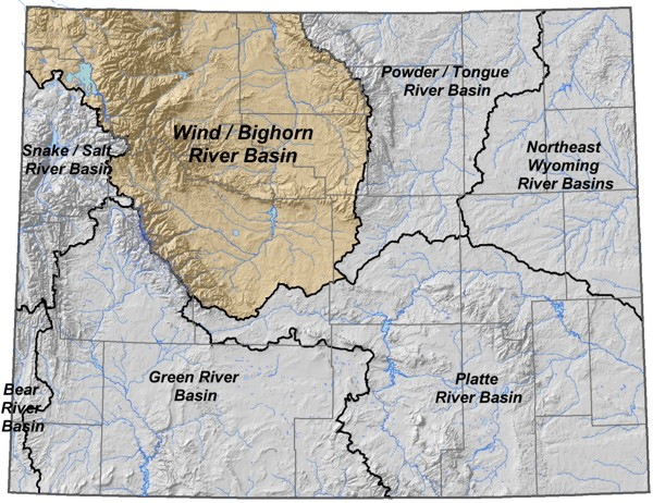 Powder River Wyoming Map.Wyoming State Water Plan Wind Bighorn Clarks Fork River Basins