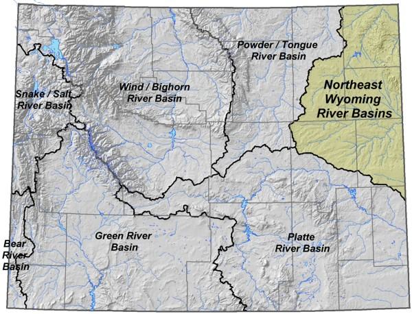 Wyoming State Water Plan Northeast Wyoming Rivers Cheyenne - Map of us river basins