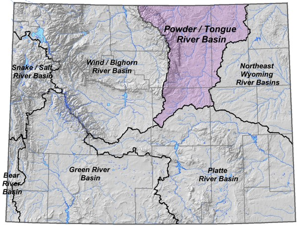 tongue river wyoming map Wyoming State Water Plan Powder Tongue Little Bighorn River Basins