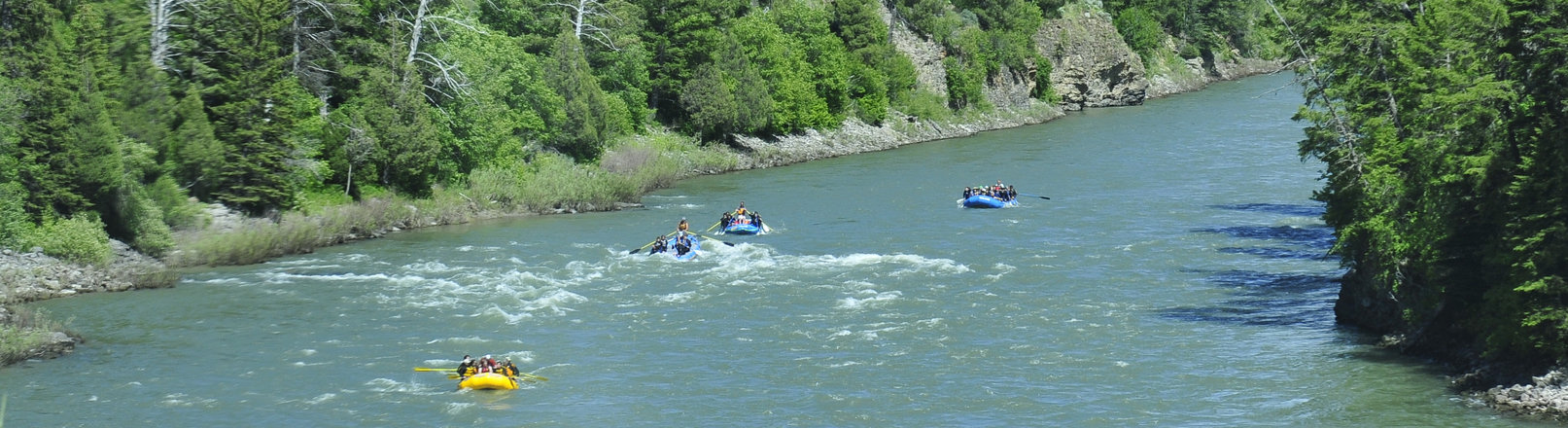 Rafting on Snake River