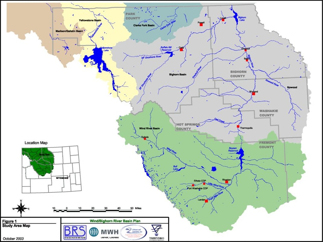 Wyoming State Water Plan Wind Bighorn River Basin Plan