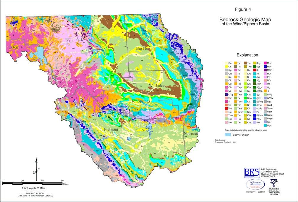 Wyoming State Water Plan Windbighorn River Basin Plan - Aquifer-map-us