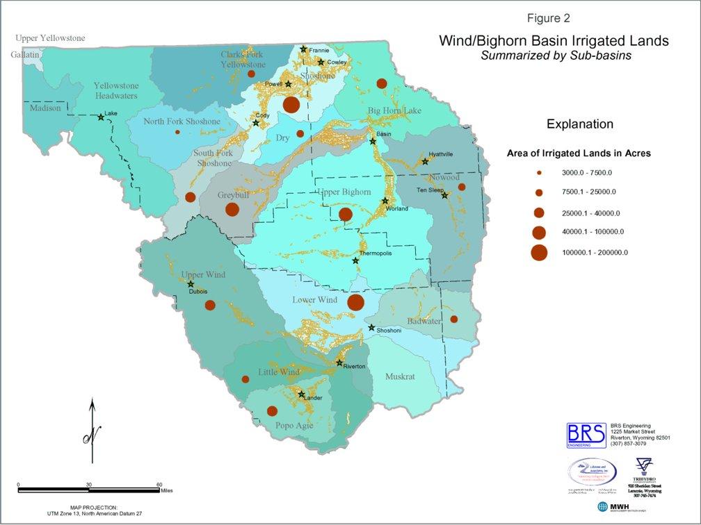 Wyoming State Water Plan WindBighorn River Basin Plan - Wyoming us map