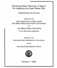 A Report for Updating the STate Water Plan: Cover